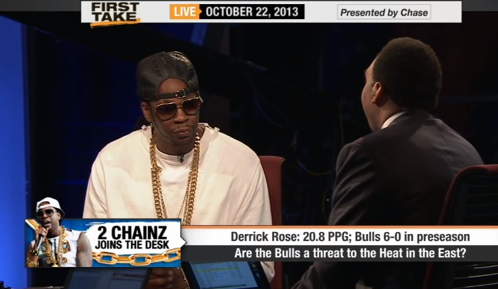 2 Chainz Talks D. Rose, Bulls & Miami Heat On ESPN's First Take
