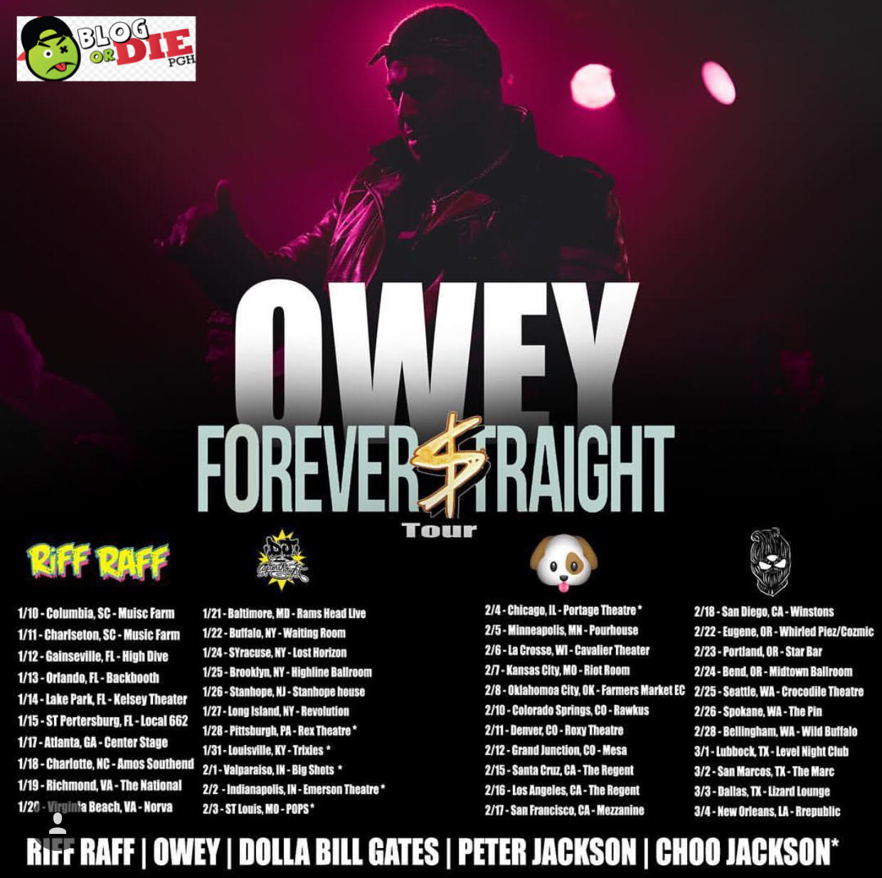 Owey, Forever Straight Tour Prepares to Launch
